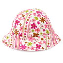 ベビー帽子 ハット スカンジナビアのフラワーパーク(ピンク)(赤ちゃん ベビー 出産祝い女の子)