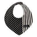 スタイ 三角タイプ polka dot small(twill black)【ビブ よだれかけ エプロン】(お食事 前掛け 赤ちゃん ベビー 出産祝い男の子 女の子)