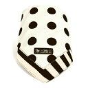 スタイ ハンカチタイプ polka dot large(broadcloth white)【ビブ よだれかけ エプロン】(お食事 前掛け 赤ちゃん ベビー 出産祝い男の子 女の子)