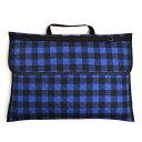 防災頭巾カバー キルティング(背板幅36cmタイプ) バッファローチェック・ブルー (