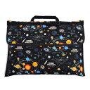 防災頭巾カバー キルティング(背板幅36cmタイプ) 太陽系惑星とコスモプラネタリウ