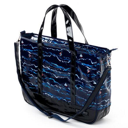 レッスンバッグ マチ付きファスナー ブルーオーシャンセーリング【手提げバッグ おけいこバッグ】(子供 小学生 男の子)