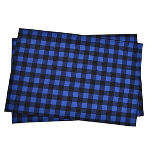 ランチョン ラージタイプ バッファローチェック・ブルー テーブルクロス