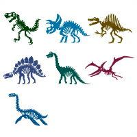 お名前シール(スタンダード 撥水 96ピース) 恐竜の大化石博物館【代引不可 送料無料 クロネコDM便】 (おなまえシール ネームラベル 子供 幼児 小学生 幼稚園 男の子 入学祝い)