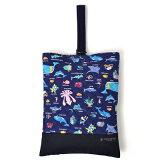 シューズケース キルティング 海洋生物の楽園(ネイビー) 日本製 【シューズバッグ 上履き入れ】(あす楽/子ども/子供/キッズ/小学生/男の子)【到着後レビューを書いて缶バッジプレゼント】