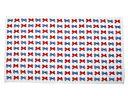 バスタオル・プールタオル 平面タイプ 67x117 ポルカドットとストライプのフレンチリボン(お着替え 保育園 お 昼寝 タオル こども キッズ 子供 ジュニア 幼児 園児 小学生 女の子 入学祝い)