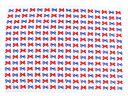 バスタオル・プールタオル 平面タイプ 84x117 ロングサイズ ポルカドットとストライプのフレンチリボン(お着替え 保育園 お昼寝 キ..