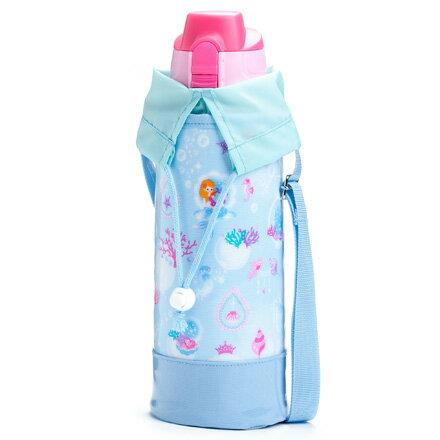 水筒カバー ラージタイプ マーメイドと輝く光のフィルハーモニー (水筒カバー ショルダー 子供 ラージ 水筒 カバー 肩掛け 水筒 ケース ボトルカバー 水筒ケース 800ml 1 リットル 女の子)