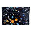 連絡袋 (B5サイズ) 太陽系惑星とコスモプラネタリウム (ブラック) 子供用 連絡帳 袋 連絡帳入れ 小学生 小学校 かわいい B5