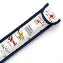 リコーダーケース 翼ひろげてスカイクルージング 子供用 定規ケース ランドセル リコーダー ケース かわいい 30cm ものさしケース ものさし入れ リコーダー袋 定規入れ 笛 ケース 定規 縦 笛 袋