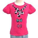 わくわくキッズTシャツ girly ribbon accent こども 子供 子供 キッズ ジュニア 幼児 小学生 入学祝い