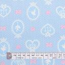 【ネコポス対応】バレリーナインミラー(ライトブルー) オックス生地 (布地タイプ) 入園入学 入園準備 入学準備 入園グッズ 手作り 女の子