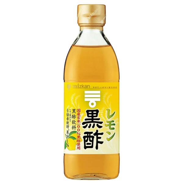 ミツカン レモン黒酢 500ml×6本入 (送料無料) MIZKAN お酢ドリンク 飲むお酢 黒酢 健康酢 お酢飲料