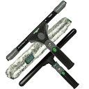 【セット】 ウンガー 40cm忍者スクイジーセット (忍者スクイジー・忍者T-Bar・忍者マイクロファイバー) 大掃除・窓掃除のプロ用