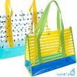 ショッピングプールバッグ 【新着】プールバッグ ドット ボーダー sandia 【水着 タオルが余裕で入る スイミングバッグ スイムバッグ】