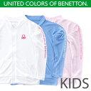 接触冷感 UVラッシュガードジップアップジャケットタイプ子供キッズBENETTON ベネトン