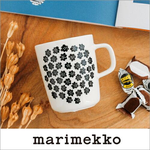 marimekko PUKETTI マグカップ/モノトーン・ホワイトベース 90(190)【68354】マリメッコ プケッティ