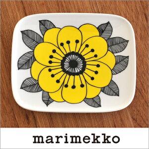 【2017年春新作】marimekko KESTIT プレート 15cm×12cm/レモンイエロー 52(129)【67104】ケスティト マリメッコ _n_z