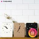 置き掛け時計 掛け時計 置き時計 紙 クラフト 北欧 おしゃれ 小さい シンプル 静音 THEHAKI SANDWICH CLOCK MINI BASIC かわいい スク..