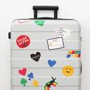 ショッピングキャリーケース 【10%OFFクーポン付】2nul Traveler's Sticker Set キャリーバッグ 飾る ステッカー かわいい 旅行 出張 旅行用品 韓国 トラベル用品 アクセサリー 目立つ 個性