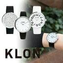 【最大1万円OFFクーポン!15日0時から】クローン KLON シンプルウォッチ ブラック ホワイト [正規品] メンズ&レディース ペア 腕時計 時計
