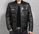 ショッピングライダース セレブレザー 本革  シンプル 刺繍ワッペンMA-1羊皮ラムレザーリブタイトスタジアムダウンジャケット ジャンパー スタジャン ブラック黒メンズ M-4XL ライダース バイカー