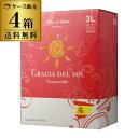 【最大888円クーポン】送料無料 《箱ワイン》グラシア デル ソル テンプラニーリョ 3L