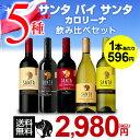 【マラソン中 最大777円クーポン】送料無料 サンタ バイ サンタカロリーナ 飲み比べ5種セットワインセット 長S 赤ワイン