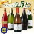 白・ロゼを厳選!スペシャル スパークリングワイン5本セット《第40弾》【送料無料】[ワインセット][スパークリングワイン]
