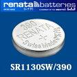 【DM便対応】 スイス製 renata(レナタ) 390(SR1130SW) 正規輸入品[でんち ボタン 時計電池 時計用電池 時計用 SR1130SW]