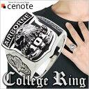 ショッピングエアフォース シルバーリング シルバーアクセサリー 指輪 紋章 エンブレム パラシュート部隊 アーミー ワイルド シルバー アーミー イーグル カレッジリング メンズ 男性用