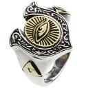 【シルバーアクセサリー】リング/指輪 馬蹄プロビデンスの目リング【cenote r0393】