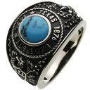 ホワイトメタルリング 指輪 メンズ トルコ石 12月 十二月...