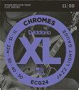 D'Addario 《ダダリオ》 XL Chromes Flat Wound ECG24 11-50 Jazz Light エレキギター弦(フラットワウンド)