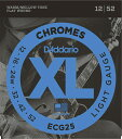 D'Addario 《ダダリオ》 XL Chromes Flat Wound ECG25 12-52 Light エレキギター弦(フラットワウンド)