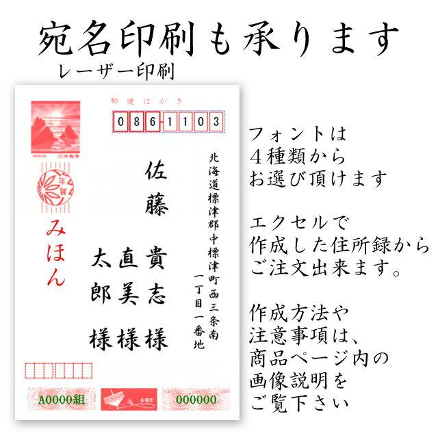 年賀状宛名印刷 年賀状印刷の専用オプション 宛名印刷 10件分 送料無料