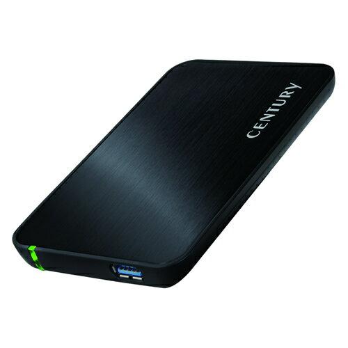 【中古】【30日保証】《送料無料》シンプルBOX2.5 USB3.0 SATA6G ブラック CENTURY/センチュリー/ハードディスクケース[CSS25U3BK6G]
