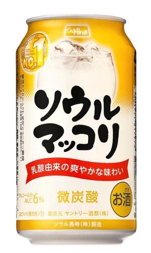 【マッコリ】サントリーソウルマッコリ 6°350mL缶 ケース24缶入