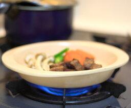 直火OKのデミグラハンバーグプレート クリーム 簡単おいしい便利 耐熱 耐火 直火可 調理食器 プレート 焼きカレー ステーキ 陶板 便利 三重県萬古焼 万古焼 国産 訳あり