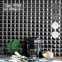 タイル モザイクタイル キッチンタイル 浴室タイル 壁タイル デザインタイル DIYタイル 黒 白【セラW&B 全色 シート販売 】