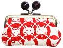 ショッピング印鑑 猫雑貨 帆布シリーズ2.8寸印鑑&小銭入れ 鈴猫七宝【にゃん屋】
