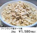 オーツ麦2kg 【オートミール えん麦 燕麦 健康素材 低GI ダイエット 腸内環境改善 製菓 製パン材料 送料無料】