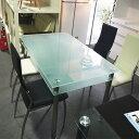送料無料 ガラスダイニング5点セット キャンキャン(食卓5点セット・食堂5点セット)ダイニングテーブル・ダイニングチェアー(椅子4脚)のセットです。