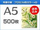 A5クリアファイル印刷500枚(単価84円)