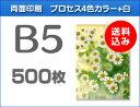 B5クリアファイル印刷500枚(単価94円)