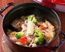ショッピングストウブ STAUB鍋で作った海鮮と若鶏のミックスパエリア 3袋セット
