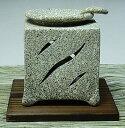 常滑焼博仙茶香炉(灰色、灯篭柄)【条件次第送料無料】(ロウソク10個・茶さじ付)【2P20Feb09】
