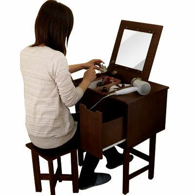 ミラー 引出し 引き出し コスメセット 鏡台 いす 椅子 イス メイク 天然木 化粧台 収納デスク 机 エレガント 小物収納 小物入れ 家具 おしゃれ ドレッサー 可愛い あす楽対応