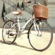 折りたたみ自転車 26インチ 送料無料 通学 通勤 折り畳み 折畳み サイクリング シティサイクル WACHSENBC-626-WBBC-626-IG 高級自転車 ヴァクセン バイクフレーム カゴ付き ホワイト 白 おしゃれ
