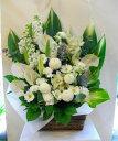 【仏花】 【お供え】【お悔み】【花】 (白 グリーン) f10001